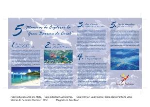 Propuesta cuadríptico de turismo gran barrera de coral